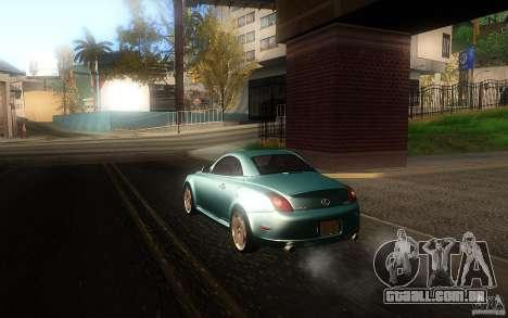 Lexus SC430 para GTA San Andreas esquerda vista