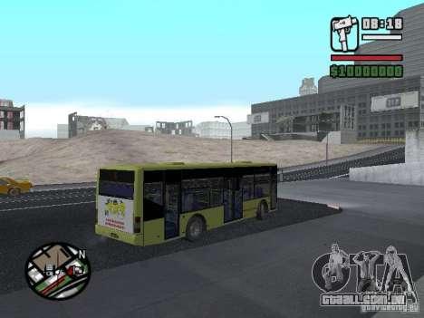 LAZ apresentado (SitiLAZ 10) para GTA San Andreas esquerda vista