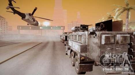 Black Hawk from BO2 para GTA San Andreas vista traseira