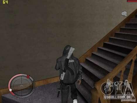Walk style para GTA San Andreas por diante tela