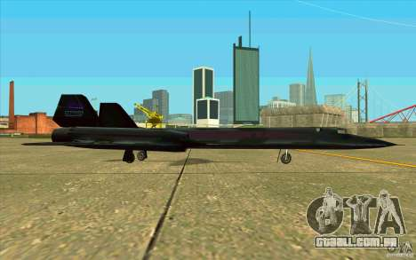 SR-71A BLACKBIRD BETA para GTA San Andreas vista traseira