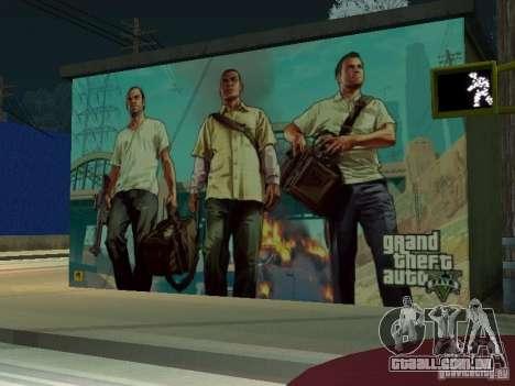 Cartaz de GTA V para GTA San Andreas terceira tela