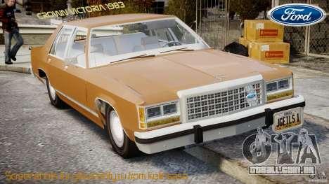 Ford Crown Victoria 1983 para GTA 4