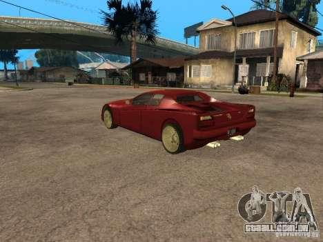 HD Cheetah para GTA San Andreas esquerda vista
