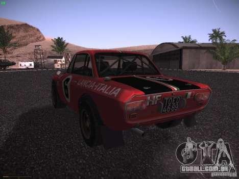 Lancia Fulvia Rally para GTA San Andreas esquerda vista