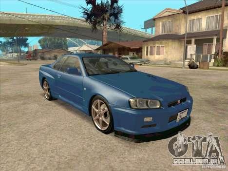 Nissan Skyline GT-R BNR34 Tunable para GTA San Andreas traseira esquerda vista