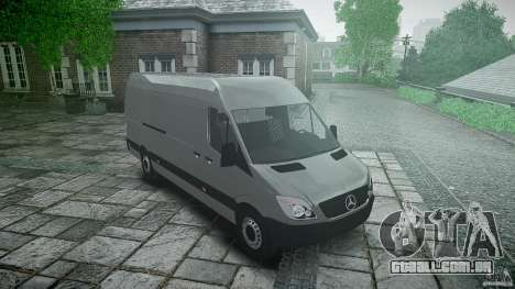 Mercedes Benz Sprinter Long Version para GTA 4 vista de volta