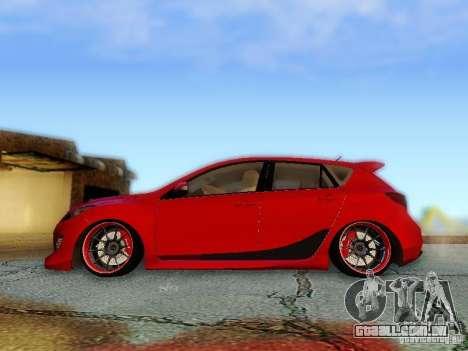 Mazda Speed 3 2010 para GTA San Andreas traseira esquerda vista