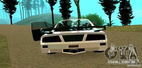 New Turismo para GTA San Andreas vista traseira