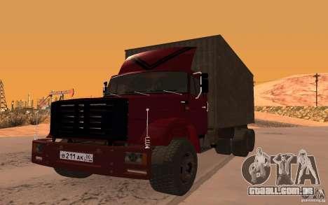 ZIL 6309 para GTA San Andreas vista direita