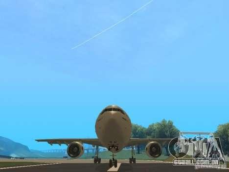 Airbus A300-600 Air France para GTA San Andreas vista interior