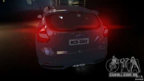 Ford Focus 3 ST para GTA 4 traseira esquerda vista
