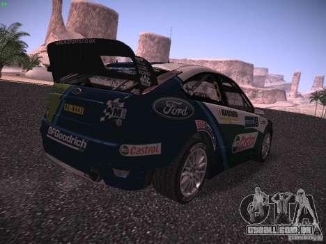 Ford Focus RS WRC 2006 para GTA San Andreas traseira esquerda vista