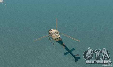 AS350 Ecureuil para GTA San Andreas vista traseira