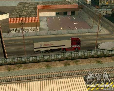 Scania TopLine para GTA San Andreas vista direita