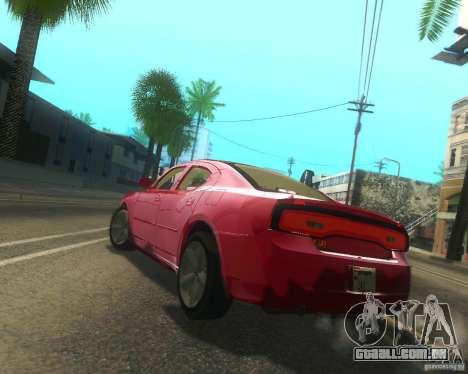 Dodge Charger 2011 para GTA San Andreas vista traseira