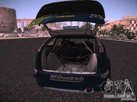 Ford Focus RS WRC 2006 para GTA San Andreas vista superior