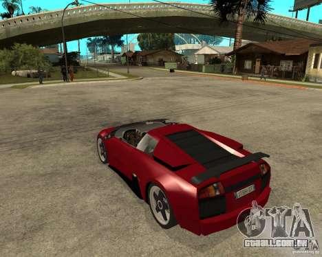 Lamborghini Murcielago SHARK TUNING para GTA San Andreas esquerda vista