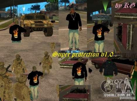 Super protection v1.0 para GTA San Andreas