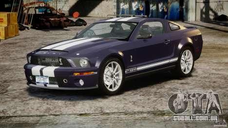 Shelby GT500KR 2008 para GTA 4 vista de volta