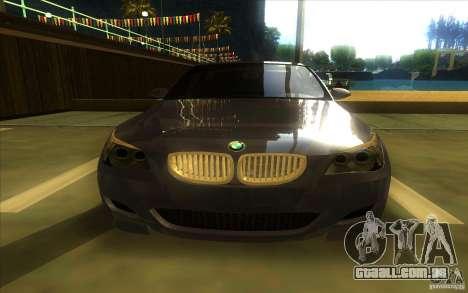 BMW M5 para GTA San Andreas vista interior