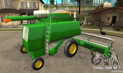 Combine Harvester Retextured para GTA San Andreas vista direita