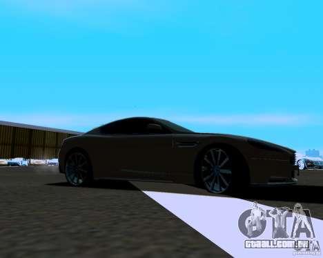 Aston Martin DBS para GTA San Andreas esquerda vista