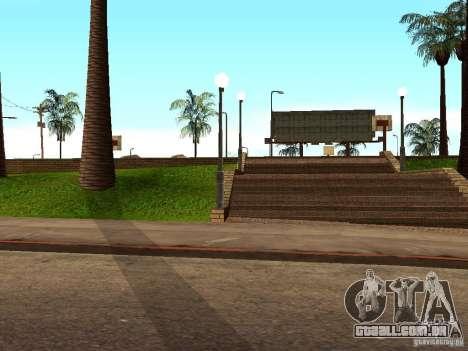 A nova quadra de basquete em Los Santos para GTA San Andreas quinto tela