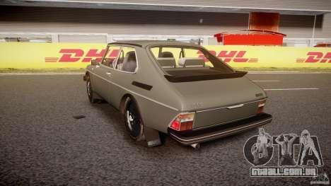 SAAB 99 Turbo 1978 para GTA 4 traseira esquerda vista