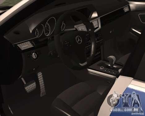 Mercedes-Benz E63 AMG W212 para GTA San Andreas vista traseira