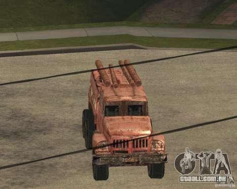 ZIL 131 para GTA San Andreas vista interior