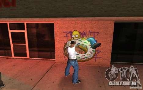 Homer Graffiti Mod para GTA San Andreas segunda tela
