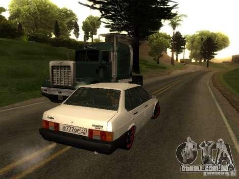 VAZ 21099 v. 2 para GTA San Andreas traseira esquerda vista