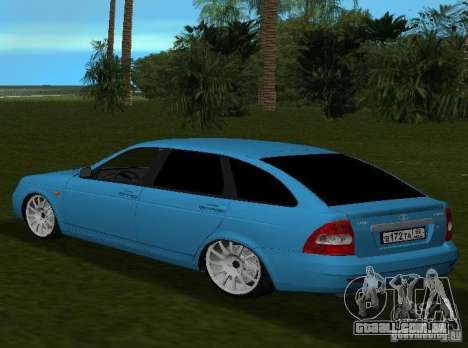 Lada Priora Hatchback v 2.0 para GTA Vice City vista traseira esquerda