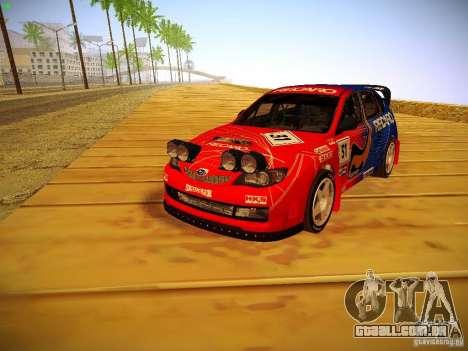 Subaru Impreza WRX STi N14 Rallycross para GTA San Andreas traseira esquerda vista