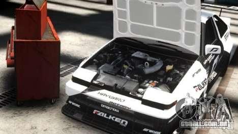 Toyota Corolla GT-S AE86 EPM para GTA 4 traseira esquerda vista
