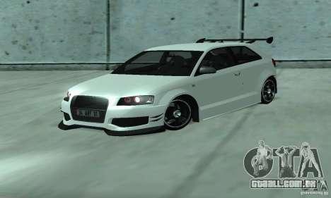Audi S3 Full tunable para GTA San Andreas