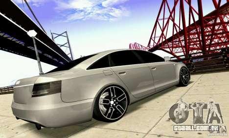 Audi A6 Blackstar para GTA San Andreas vista interior