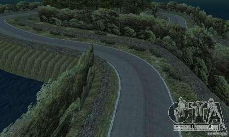 A rota do rali para GTA San Andreas décimo tela