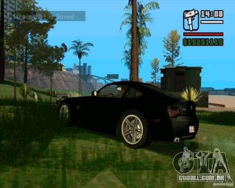 BMW Z4 M Coupe para GTA San Andreas vista direita