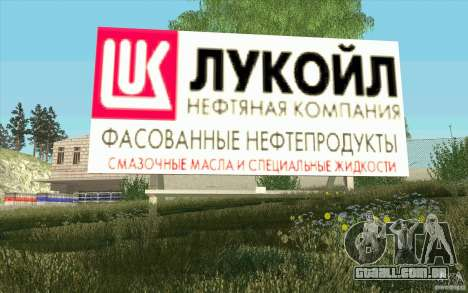 Empresa de petróleo Lukoil para GTA San Andreas quinto tela