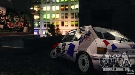 Peugeot 205 Rally para GTA 4 esquerda vista