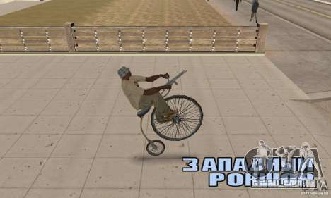 Penny-Farthing Ordinary Bicycle para GTA San Andreas vista direita