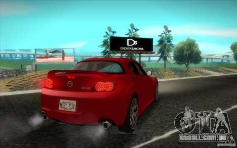 Mazda RX-8 R3 2011 para GTA San Andreas vista traseira