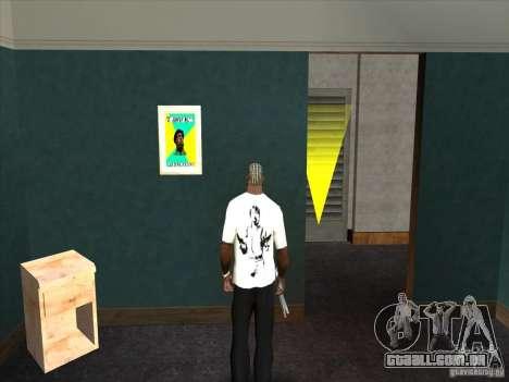 T-shirt do Chuck Norris para GTA San Andreas segunda tela
