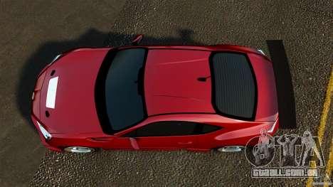 Subaru BRZ 2013 para GTA 4 vista direita