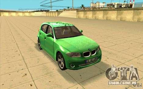 BMW 118i para GTA San Andreas vista traseira