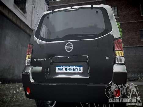 Nissan Pathfinder 2010 para GTA 4 vista direita