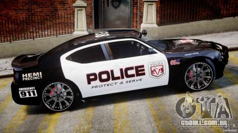 Dodge Charger NYPD Police v1.3 para GTA 4 vista inferior
