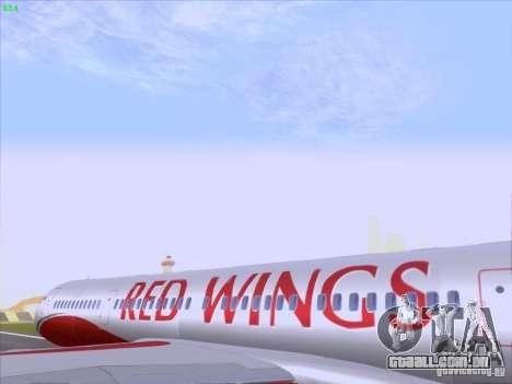 Tupolev Tu-204 Red Wings Airlines para GTA San Andreas vista interior